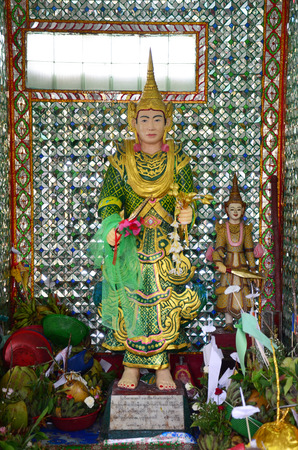 bo: Guardian of Rohani Bo Bo Gyi is believed to be the guardian spirit of Botahtaung Pagoda in yangon Myanmar and Thai people well know because Bo Bo Gyi people will come for ask live success Editorial