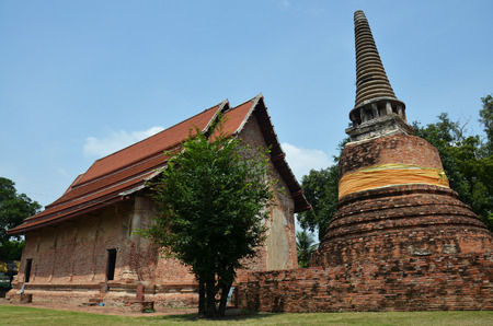 Ruins and temple of Ayutthaya Historical Park Thailand