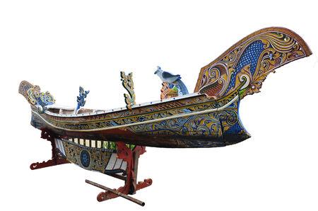 Boat figure Thai Style name is Koleh or Golek or Kolek boats art of south in thailand photo