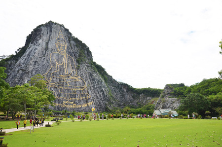 chan: Buddha Mountain, which is also called Khao Cheejan or Khao Chee Chan or officially called Phra Phuttha Maha Wachira Uttamopat Satsada. The Buddha image was carved by laser beams in Pattaya Chonburi.