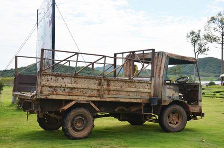 garden truck: Old Truck in garden