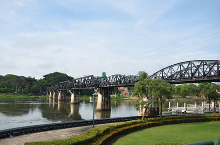 internationally: Bridge of the River Kwai. Internationally famous,  black iron bridge was built from  by Japanese supervision by Allied prisoner-of-war labour as part of the Death Railway linking Thailand with Burma.