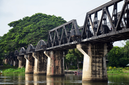 Bridge of the River Kwai. Internationally famous,  black iron bridge was built from  by Japanese supervision by Allied prisoner-of-war labour as part of the Death Railway linking Thailand with Burma.