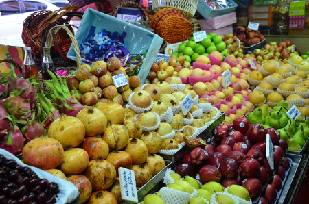 Greengrocery or Vegetables and Fruit Shop at gimyong market in Hat Yai (Thai: หาดใหญ่) is a district (Amphoe) of Songkhla Province, southern Thailand.