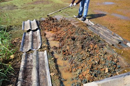 poisoning: Giardinaggio agricolo per la guarigione e il trattamento di contaminazione del suolo da sostanze chimiche e metalli pesanti nel suolo si verificano da Heavy Industrial avvelenamento rilascio del metallo nel suolo da Industrial.