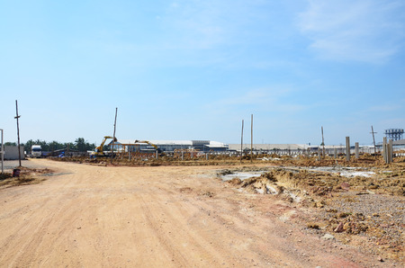 Land for Building Manufacture Construction Site at Bangkok Thailand