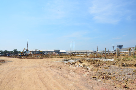 Land for Building Manufacture Construction Site at Bangkok Thailand photo