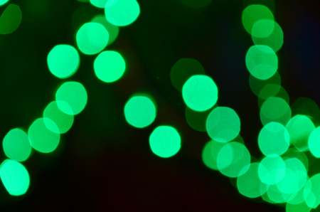 green Color Bokeh photo