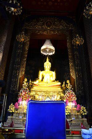 wat bowon: Buddha at Wat Bowonniwet Vihara, or Wat Bowon located on Bangkok Thailand.