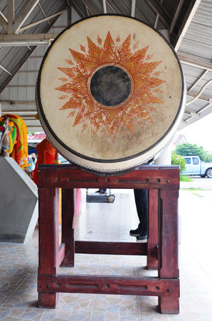 gong in buddhist temple in Thailand