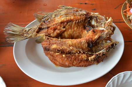 topped: Deep Fried Snapper topped with Sweet Fish Sauce