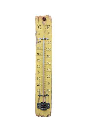 celsius: Thermometer show 14 degrees Celsius Stock Photo
