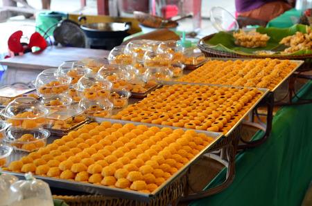 jah: Three type in Nine type auspicious Thai desserts name 1.THONG EK 2. SA NEH JAAN 3. JAH MONGKUT