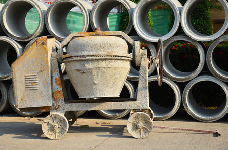 Cement or Concrete mixer drum photo