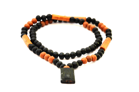 Rosary string of beads with Buddha Amulet Thai Style photo