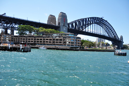 Sydney Harbour Bridge at Sydney on January 24, 2015 in New South Wales, Australia.