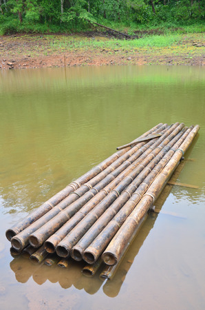 Round raft Bamboo on Pang Ung (Pang Oong) or Pangtong2 a large reservoir in Pang Ung is popular and attracts more and more visitors to come at Mae Hong Son, Thailand. photo