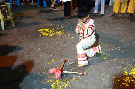 Thai Children people show the drum to turn away victory or Drum KlongSabatChai