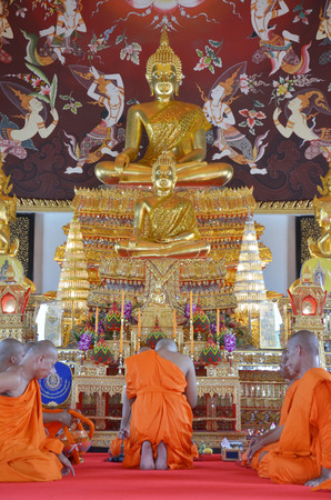 ordination: The Ordination Ceremony of a Monk at Wat Bang Pai in Nonthaburi, Thailand. Editorial