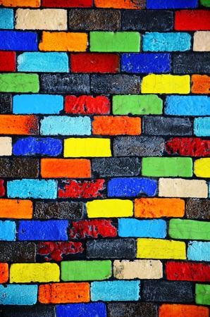 Colour Brick Wall Background Banque d'images