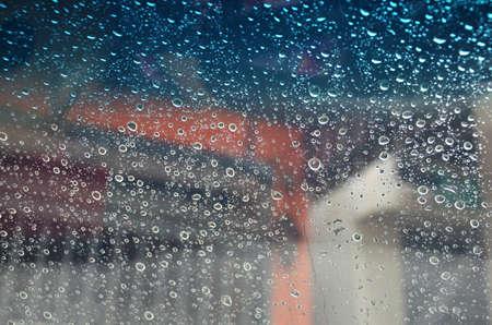 kropla deszczu: Kropla deszczu na szkło płaskie Tła