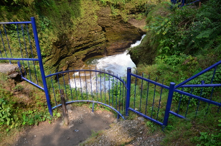 Hell is Falls or Devil waterfall at Pokhara in Annapurna Valley Nepal.