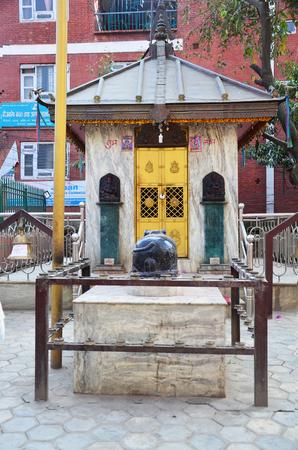 house of god: Joss house of God in Basantapur Durbar Square in Kathmandu Nepal