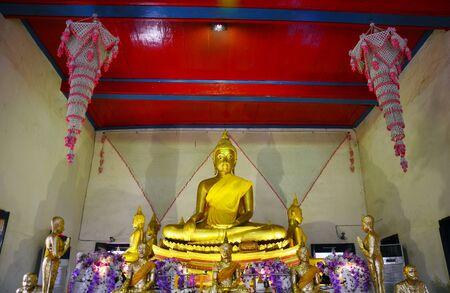 ka: Buddha statue of Wat Tha Ka Rong in Ayutthaya Thailand
