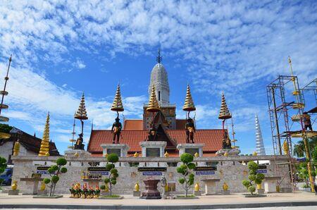 King statue for people praying at Wat Puttaisawan in Ayutthaya Thailand photo