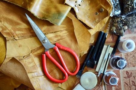 castles needle: Equipment of Handmade leather local thai style