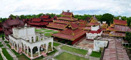 Panorama of Mandalay Palace in Mandalay Myanmar
