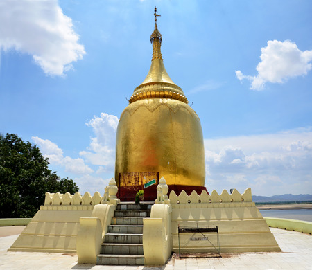 Bu Paya Pagoda located on the bank of the Ayeyawady River in the northwest direction of the city wall of Bagan Myanmar photo