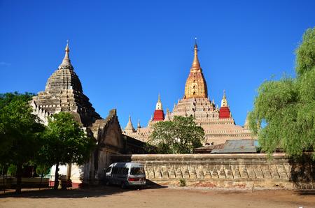 bagan: Ananda temple at Bagan Archaeological Zone in Bagan, Myanmar Stock Photo