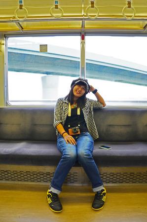 adult rape: thai women on train Stock Photo