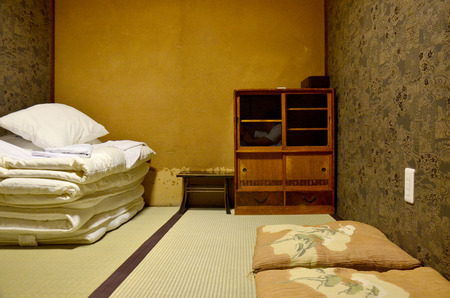 Japan bedroom and sleeping set old style Banque d'images