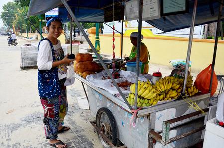 integer: Thai people buy Champedak or Artocarpus integer at market on September 18, 2018 in Nakhon Si Thammarat, Thailand