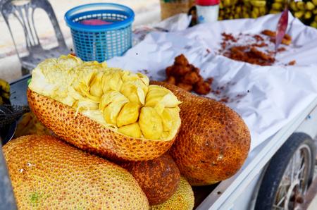 integer: Champedak or Artocarpus integer at market in Nakhon Si Thammarat, Thailand