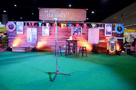 ballad: The stage for singing show and contest at temple carnival retro at IMPACT Muang Thong Thani on October 16, 2015 in Nonthaburi, Thailand
