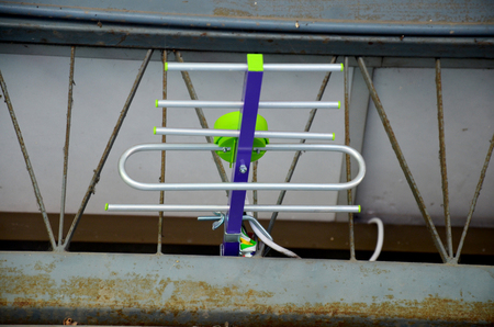 fishbone: Fishbone poles for Digital Television location in Nonthaburi, Thailand