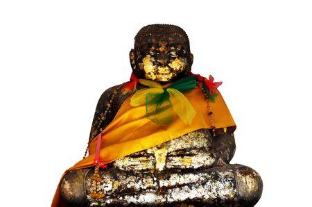 gautama buddha: Katyayana or Gautama Buddha thai name called Phra sangkatjay happy and smile Buddha at Prasat Nakhon Luang, Ruin of Ayutthaya in Thailand Stock Photo