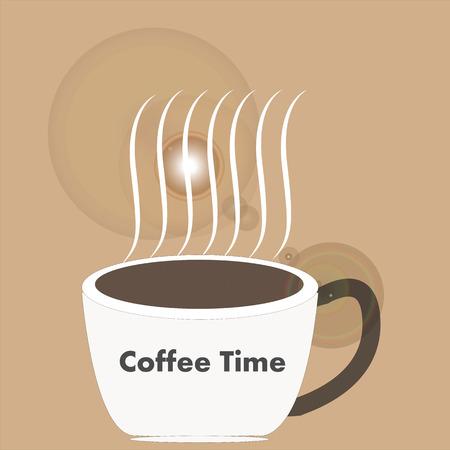 Art design hot coffee
