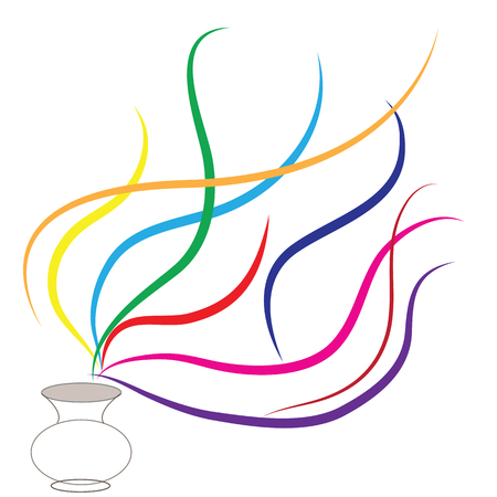 Colorful line movement with white background