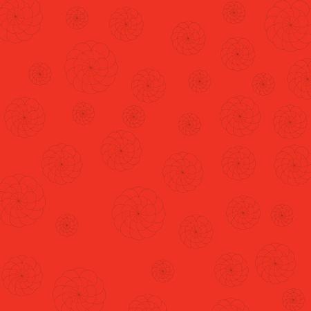 Art design red and flower background Ilustracja