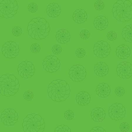 Art design green and flower background Ilustracja
