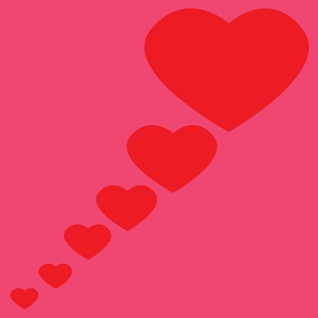 Red Heart with pink background Ilustracja