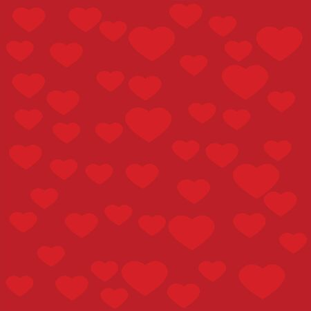 Red Heart with red background