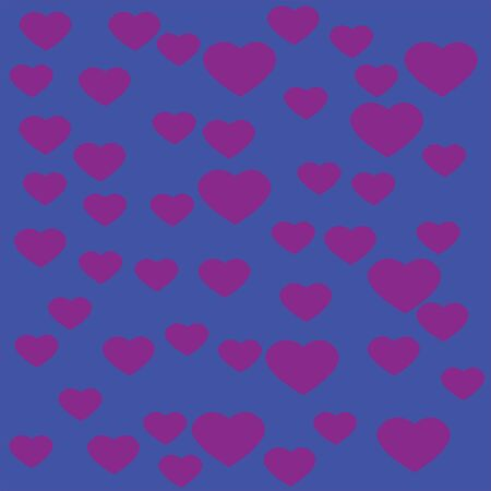 Red Heart with blue background Ilustracja