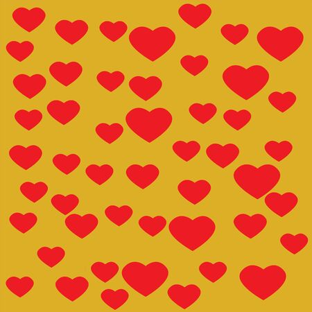Red Heart with yellow background