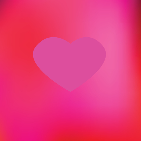 pink heart and red shade background