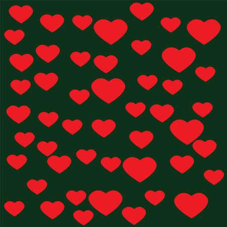 corazones azules: Corazón rosado con el fondo verde Vectores